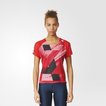 koszulka adidas adizero short sleeve tee w czerwona