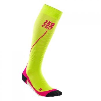 skarpety kompresyjne cep run socks 2.0 w różowo-Żółte