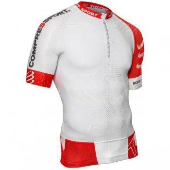 koszulka compressport trail running shirt v2 ss m biała