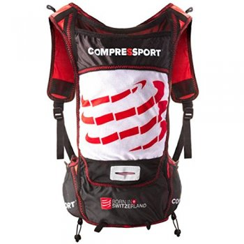 plecak compressport ultrun 140g pack w biało-czerwono-czarny