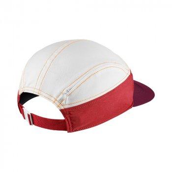 czapka nike run zip aw84 w biało-czerwona