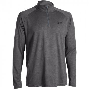 ua tech 1/4 zip-cbh/blk