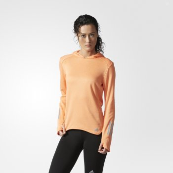 bluza adidas response astro hoodie w pomarańczowa