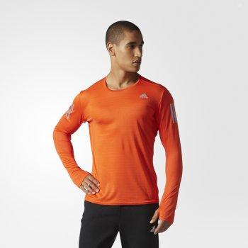bluza adidas response ls tee m pomarańczowa