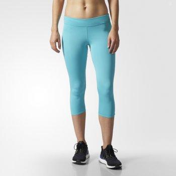 legginsy adidas response 3/4 tights w błękitne