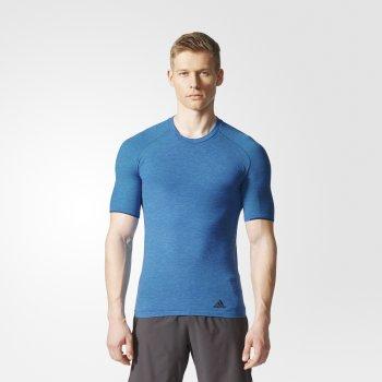 koszulka adidas primeknit wool tee m niebieska