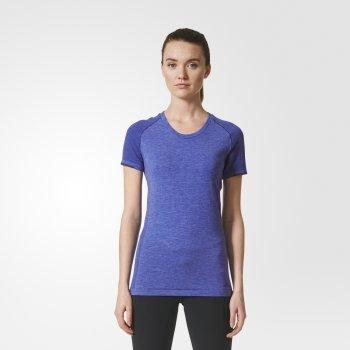 koszulka adidas primeknit wool dip-dyed tee w fioletowa