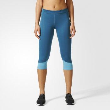 legginsy adidas techfit base capri w niebieskie
