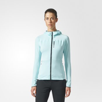 bluza adidas terrex tracerocker hooded fleece jacket w błękitna