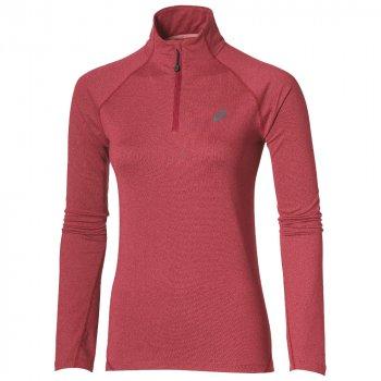 bluza asics ls 1/2 zip jersey w różowa