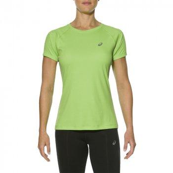 koszulka asics stripe top ss w zielona