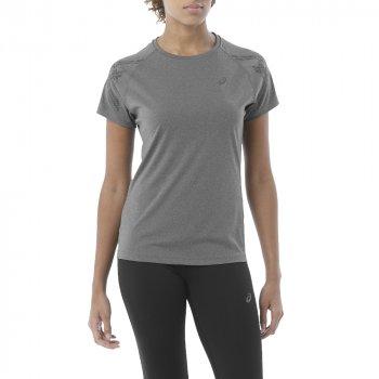 koszulka asics stripe short sleeve top w szara