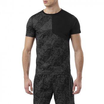 koszulka asics lite-show short sleeve top m szaro-czarna