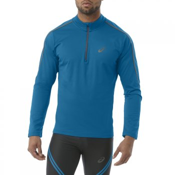 bluza asics long sleeve winter 1/2 zip m niebieska