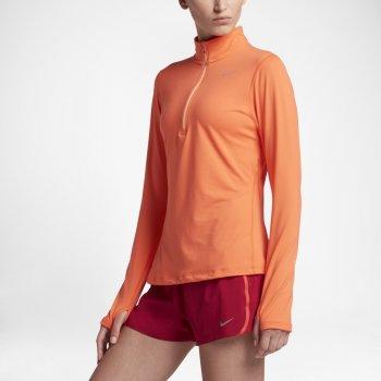 bluza nike element half zip top w pomarańczowa