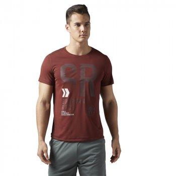 koszulka reebok spartan race short sleeve tee m bordowa