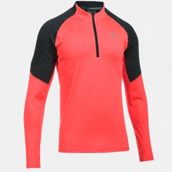bluza under armour threadborne run quarter zip m czarno-koralowa