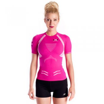 koszulka x-bionic the trick running shirt w różowa