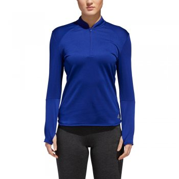 koszulka adidas response climawarm 1/2 zip tee w niebieska