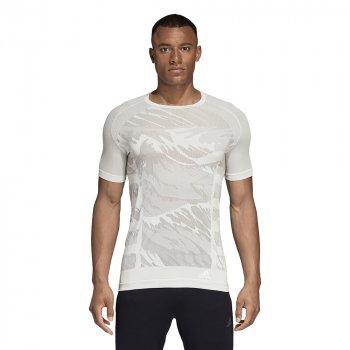koszulka adidas performance ultra primeknit parley tee m szaro-biała