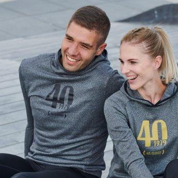 dedykowana bluza 40. pzu maratonu warszawskiego m szara