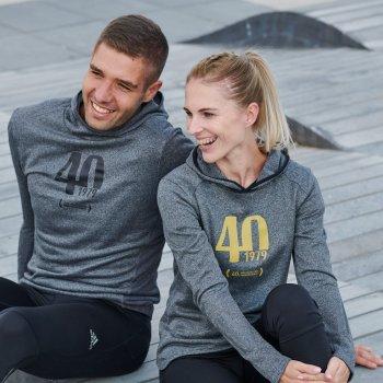 dedykowana bluza 40. pzu maratonu warszawskiego w szara