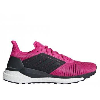 buty adidas solar glide st w purpurowo-czarne