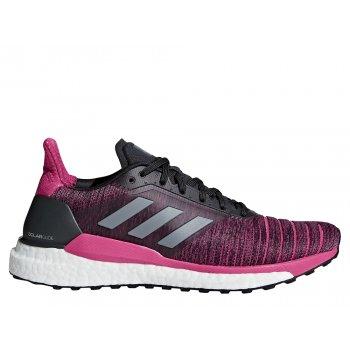 buty adidas solar glide w szaro-różowe