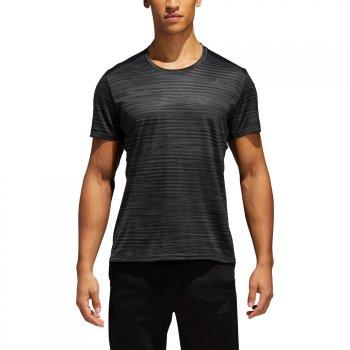 koszulka adidas response printed tee m grafitowo-czarna