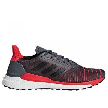 buty adidas solar glide m szaro-czerwone