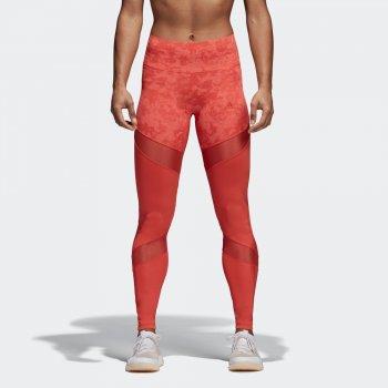 legginsy adidas legginsy ultimate high-rise printed w czerwone