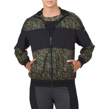 kurtka asics liberty print wind jacket w czarna