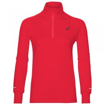 bluza asics thermopolis longsleeve 1/2 zip top w czerwona