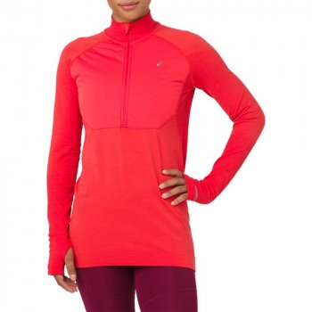 bluza asics system long sleeve layer 2 w czerwona