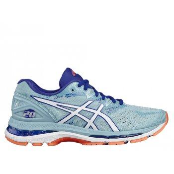 buty asics gel-nimbus 20 w biało-niebieskie