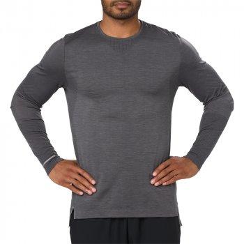 koszulka asics seamless long sleeve m ciemno-szara