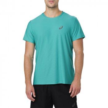 koszulka asics short sleeve top m zielono-niebieska