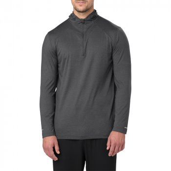 bluza asics long sleeve hoodie m szara