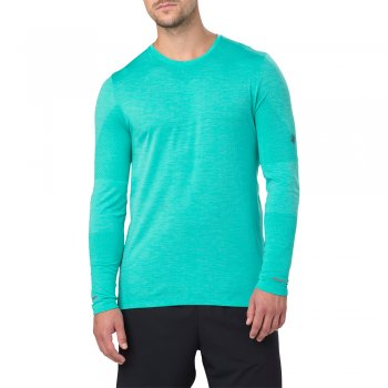 koszulka asics seamless long sleeve m turkusowa