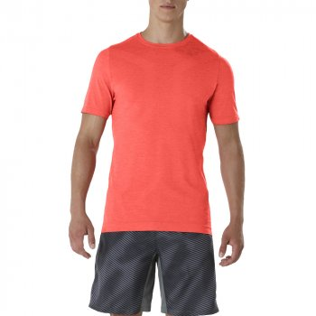 koszulka asics seamless short sleeve top m czerwona