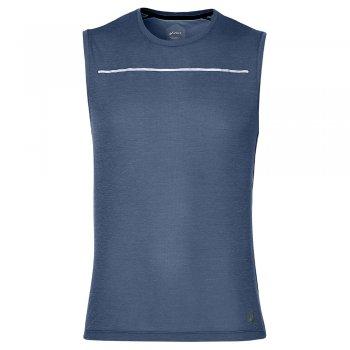 koszulka asics lite-show sleeveless m szaro-niebieska