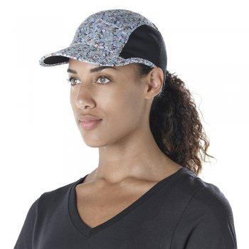 czapka z daszkiem asics lp cap czarna-multikolor