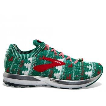 buty brooks levitate 2 ugly sweater w czerwono-biało-zielone