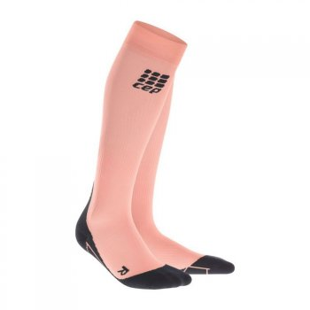 skarpety kompresyjne cep compression socks w czarno-koralowe