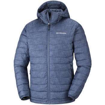 kurtka columbia powder lite hooded jacket m szaro-niebieska