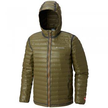 kurtka columbia titanium outdry ex gold waterproof down jacket m brązowo-zielona