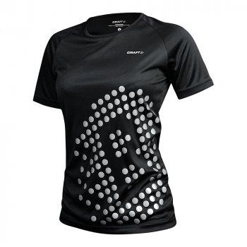 koszulka craft run prime sbrt tee w srebrno-czarna