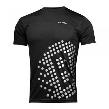 koszulka craft run prime sbrt tee m srebrno-czarna
