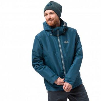 kurtka jack wolfskin north fjord jacket 3-in-1 hardshell m niebieska
