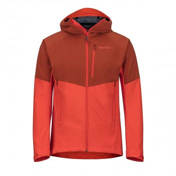 kurtka marmot rom jacket, dark rust/mars orange
